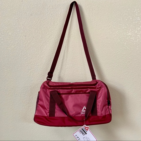 6a3a95d24be493 Reebok Bags | Garnet Medium Duffle Gym Bag | Poshmark
